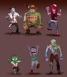 Zombie Character Designs